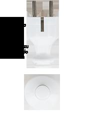 Wtyczka biały i przełącznik nablatowy